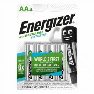 Energizer Extreme AA 2300 mAh NiMH akkumulátor, 4 db