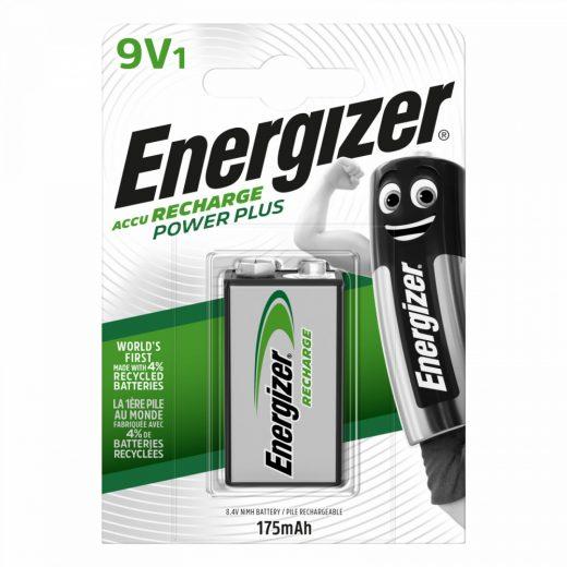 Energizer Power Plus 9V NiMH akkumulátor 175 mAh