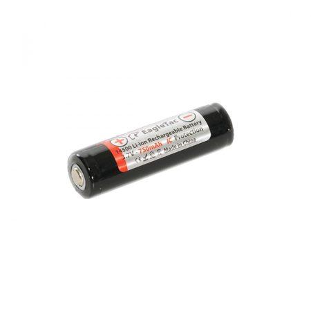 Eagletac 14500 3,7V 750 mAh védett akkumulátor