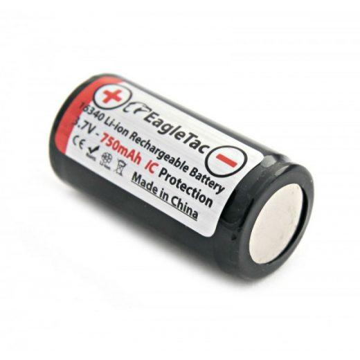 Eagletac 16340 3,7V 750 mAh védett akkumulátor