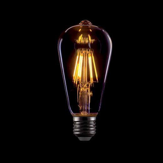 Elmark Vintage E27 8W ST64 2800-3200K 720lm LED Arany Búra