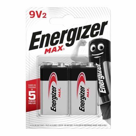 Energizer Max Alkáli 9V Elem, 2 db