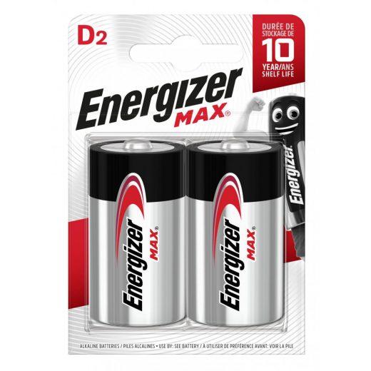Energizer Max Alkáli D LR20 Góliát Elem, 2 db