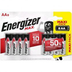 Energizer Max Alkáli AA LR6 Ceruza Elem x 8 db