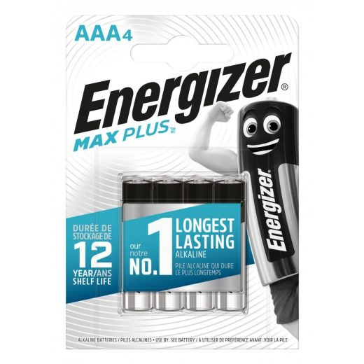 Energizer Max Plus Alkáli AAA LR03 Mikro Elem x 4 db
