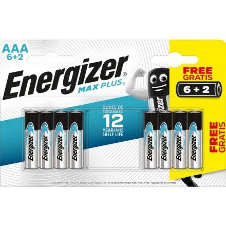 Energizer Max Plus Alkáli AAA LR03 Mikro Elem x 8 db