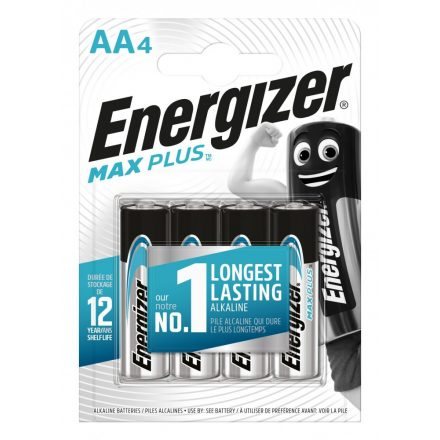 Energizer Max Plus Alkáli AA LR6 Ceruza Elem x 4 db