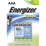 Energizer Eco Advanced AAA Mikro Elem, 4 db