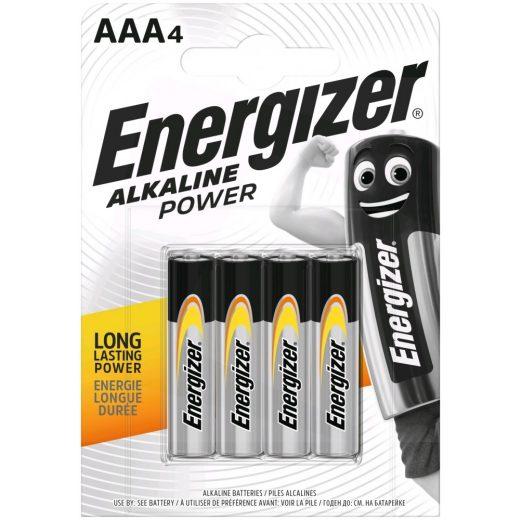 Energizer Alkaline Power AAA LR03 Mikro Elem, 4 db