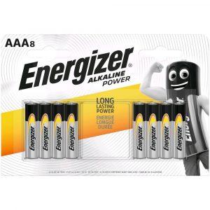 Energizer Alkaline Power AAA LR03 Mikro Elem, 8 db