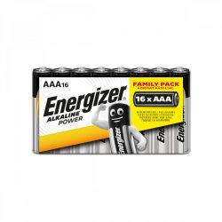Energizer Alkaline Power AAA LR03 Mikro Elem, 16 db fóliában