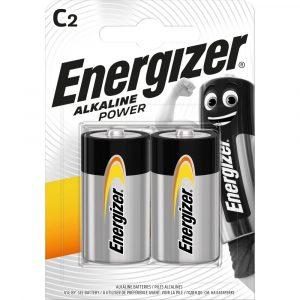 Energizer Alkaline Power C LR14 Baby Elem, 2 db