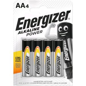 Energizer Alkaline Power AA LR6 Ceruza Elem, 4 db