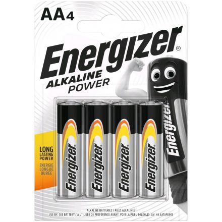 Energizer Alkaline Power AA LR6 Ceruza Elem x 4 db