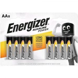 Energizer Alkaline Power AA LR6 Ceruza Elem, 8 db