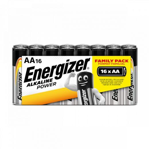 Energizer Alkaline Power AA LR6 Ceruza Elem x 16 db fóliában
