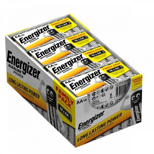 Energizer Alkaline Power AA LR6 Ceruza Elem, 16 db fóliában