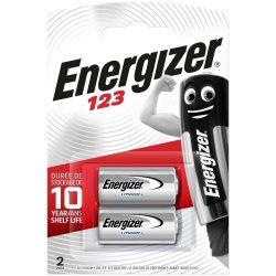 Energizer CR123 Lítium Fotó Elem x 2 db