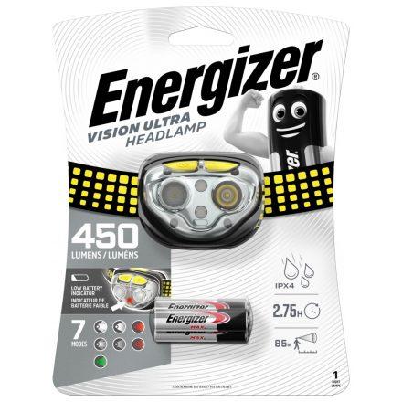 Energizer Vision Ultra Fejlámpa - 450 lm - elemmel