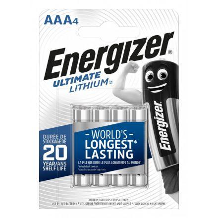 Energizer Ultimate Lithium AAA Mikro Elem - 4 db