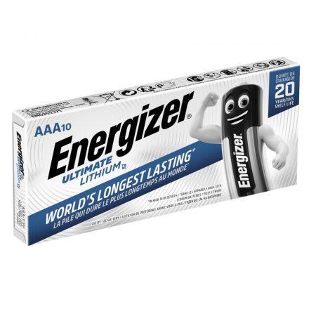 Energizer Ultimate Lithium AAA Mikro Elem - 10 db