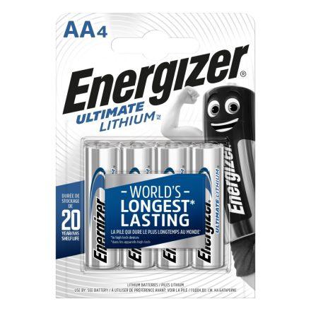 Energizer Ultimate Lithium AA FR6 Ceruza Elem - 4 db