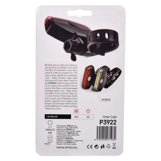 Emos Kerékpár lámpa szett - 1W COB LED