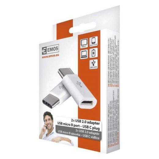 Emos USB 2.0 Adapter microUSB - USB-C