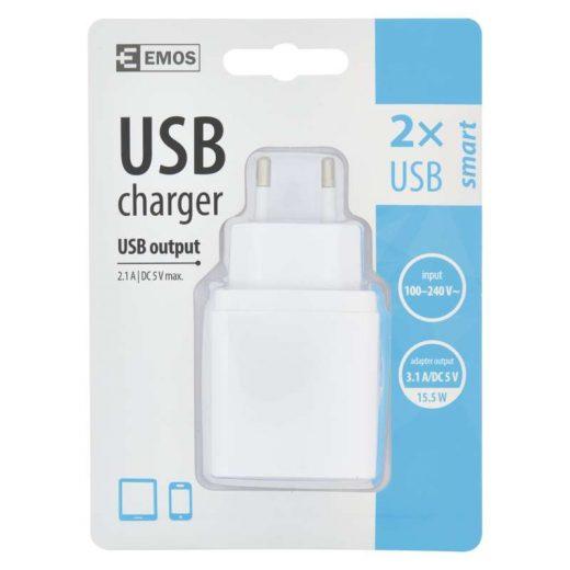 Emos Univerzális USB töltő 2xUSB 3,1A