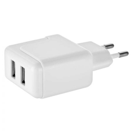 Emos Hálózati Töltő Szett - 2xUSB - 3.1A - 15,5W + microUSB + USB-C adapter