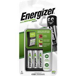Energizer Maxi NiMH Akkumulátor Töltő + 4x 2000 mAh AA