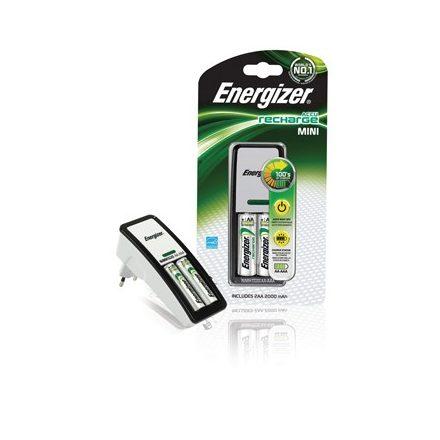 Energizer Mini NiMH Akkumulátor Töltő + 2x 2000 mAh AA