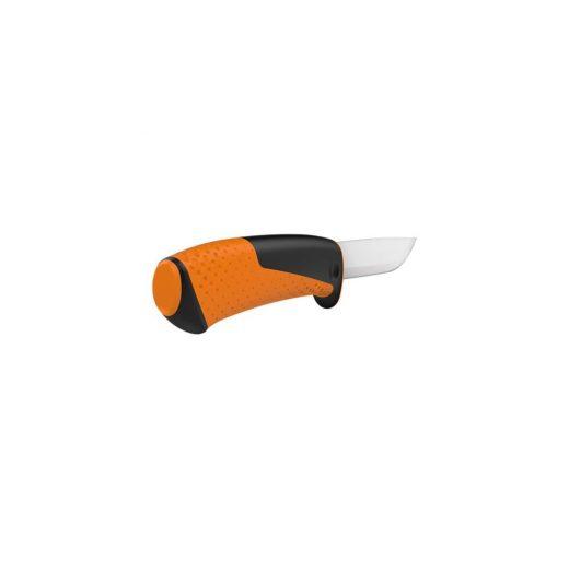 Fiskars Általános kés - tokba épített élezővel