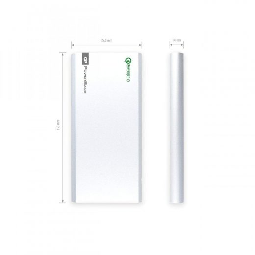 GP PowerBank 10000 mAh -  FP10MB - QC2.0 - Ezüst