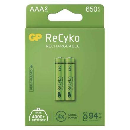 GP Recyko AAA 650 mAh NiMH akkumulátor x 2 db