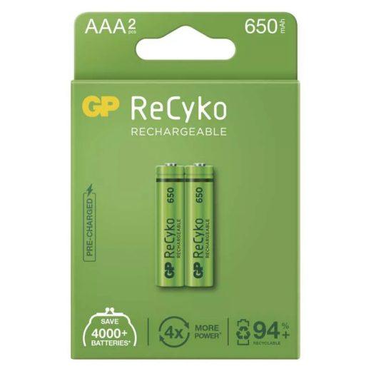 GP Recyko Cordless AAA 650 mAh NiMH akkumulátor x 2 db