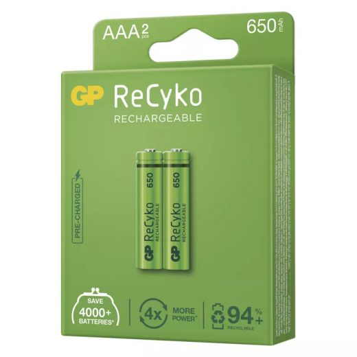 GP Recyko Pro Dect AAA 650 mAh NiMH akkumulátor, 2 db