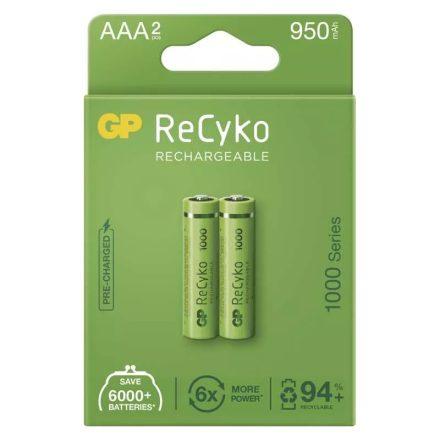 GP Recyko AAA 950 mAh NiMH akkumulátor x 2 db