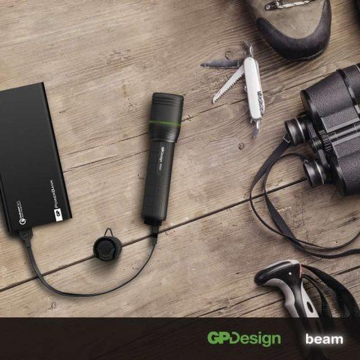 GP PR57 Elemlámpa - 1000 lm - USB - Akkuval