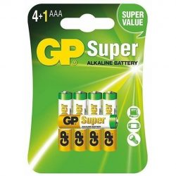 GP Super Alkáli AAA Mikro R03 elem, 5 db