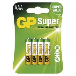 GP Super Alkáli AAA Mikro LR03 elem x 4 db