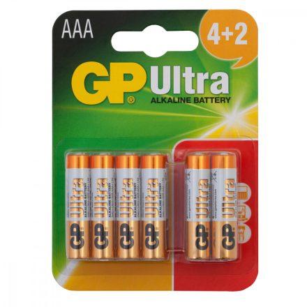GP Ultra Alkáli AAA Mikro LR03 elem x 6 db