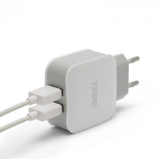 Dual USB Hálózati Adapter 5V/2.1A