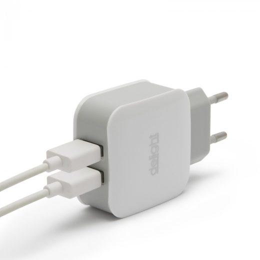 USB Hálózati Adapter Dual 5V/2.1A