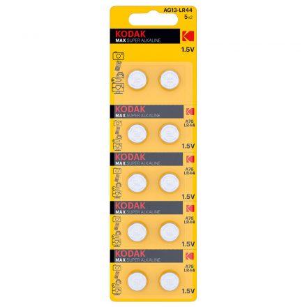 Kodak AG13 LR44 Alkáli Gombelem x 10 db