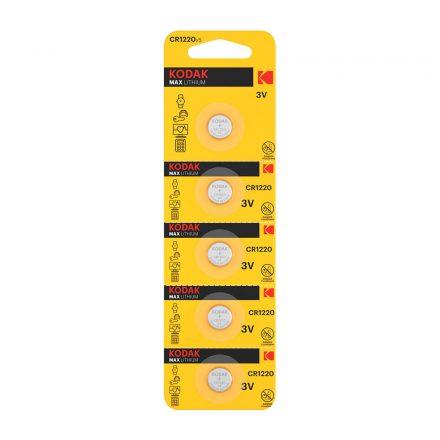 Kodak CR1220 3V Lítium Gombelem x 5 db