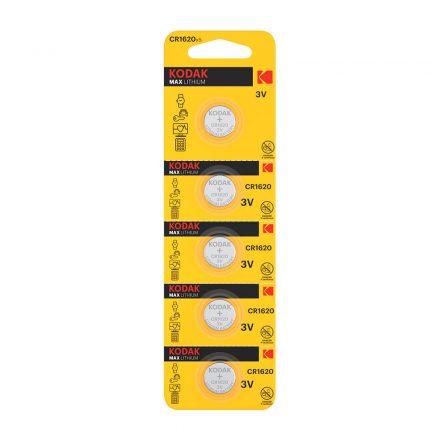 Kodak CR1620 3V Lítium Gombelem, 5 db