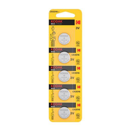 Kodak CR2016 3V Lítium Gombelem, 5 db