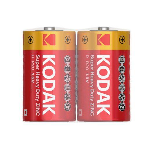 Kodak Féltartós D R20 Góliát elem, 2 db fóliában