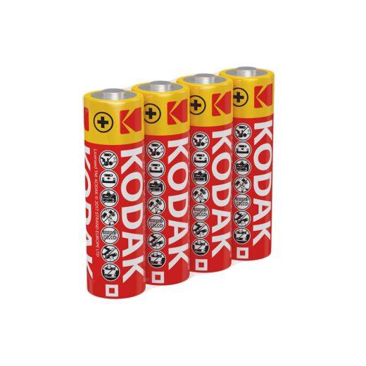 Kodak Féltartós AA R6 Ceruza elem, 4 db fóliában